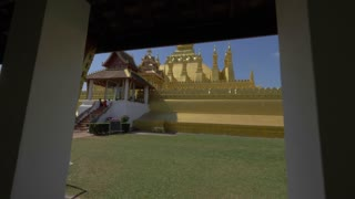 Vientiane Laos Temple Gimbal City Tourism Asia Culture Buddha 4K