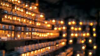 Votive Candle Relic Intercession Catholic Prayer Candles Cinematic 4K