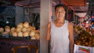 War Victim Unexploded Landmine Survivor American Secret War Cluster Bombs Shells Grenades Cluster Bomb Buddhism Tropical South East Asian Friut Market 4K