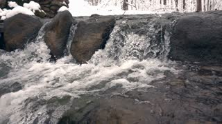 Water Fall Rapids Slow Mo Pan Shot