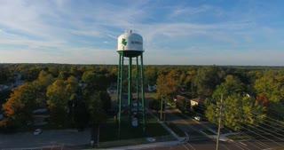 Water Tower Aerial Circle