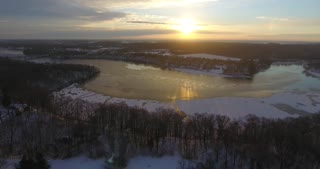 Winter River Ice Aerial