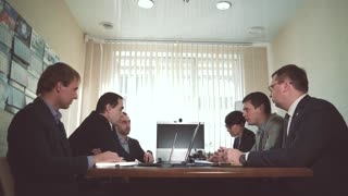 Business meeting at office. Working meeting. Business Banking. Business woman. Top managers of a large company or a bank