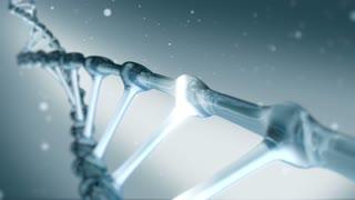 BlueDNA spiral rotating