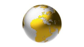 Golden silver Earth rotation, loop, DOF