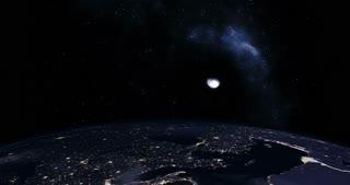 Photo-realistic sunrise over Earth
