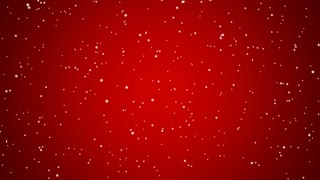 Holiday Snowfall on Red, Med (60fps)