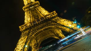 Legs of Eiffel Tower Time-lapse
