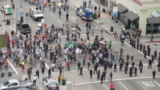 Occupy Crowd Passes Through