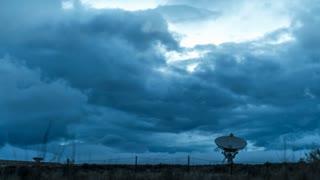 Radio Telescope Storm Clouds