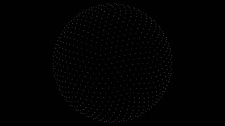 Retro 3D Vector Sphere Points
