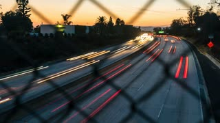 Sunsetting Freeway Time-lapse