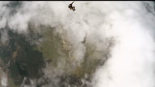 Skydiver in accelerated free fall course