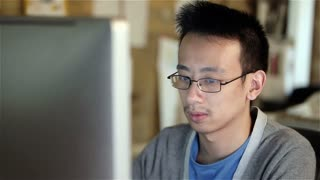 Computer programmer: concentrating reading code