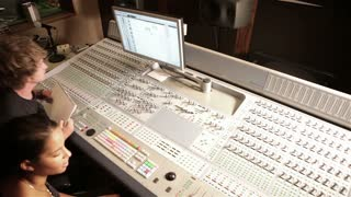 Professional audio and video mixing desk