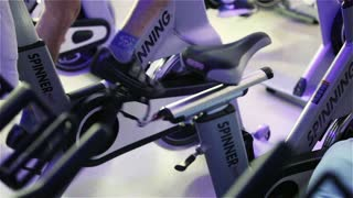 Spinning class: pedal power
