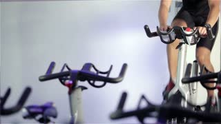 Spinning class: solitary workout