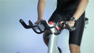 Spinning class: sprint cycling