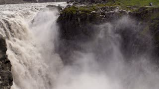 Dettifoss on Iceland: Europe's largest waterfall, slow motion shot at 240fps