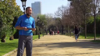 Women running in park, slow motion shot at 120fps, steadycam shot