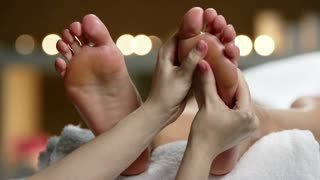 Side angle of thai foot massage
