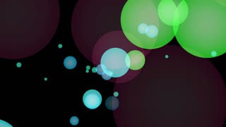 Abstract background with bubbles moving. Animation of soft particles.