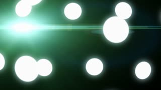 Abstract background with rotating ball. Animation of soft particles.