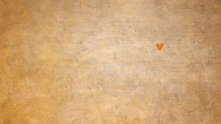 Animated hearts on rough texture background.