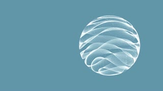 Background with animated sphere