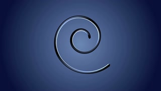 Blue spiral shape moving. Motion graphics background.