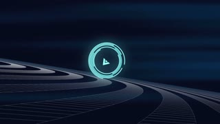 Target search interface. Modern science motion graphics background.