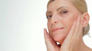 A face-lift middle-aged women