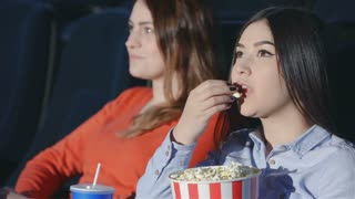 Asian girl with a girlfriend in the movie