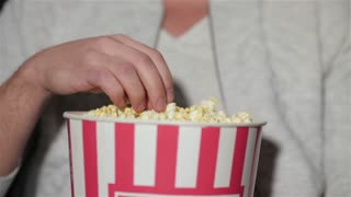 Attractive male at the movie theater