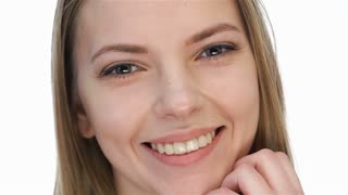 Beautiful model girl with perfect fresh skin