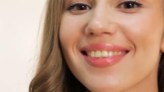 Caucasian young girl close up portrait
