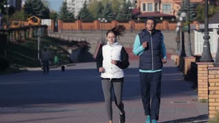 Concept about urban running, sport, fitness and people