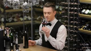 Confident and experienced sommelier