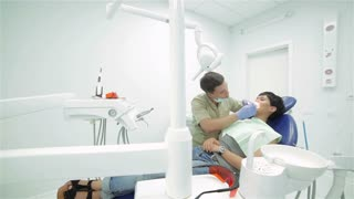 Dentist teeth ending inspection patient view general