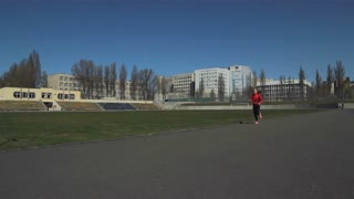Doing a race at the stadium