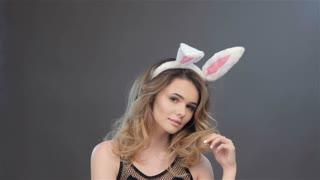 Girl weared bunny ears