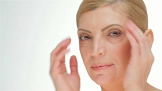 Healthy skin middle-aged women