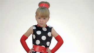 Kid Girl Threatens a Finger