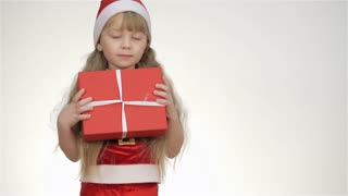 Kid Holding a Gift In a Red Box