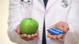 Pharmaceutical and an apple