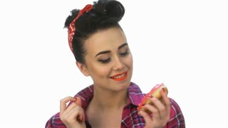 Pin up girl wants to eat yummy