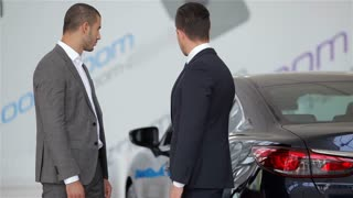 Shaking hands while purchase new car