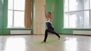 Sport fitness woman doing yoga exercises