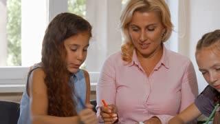 Mature teaching girls