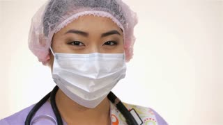 Young asian doctor woman